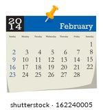 calendar 2014 february | Shutterstock .eps vector #162240005