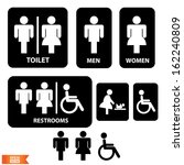 vector  toilette sign with... | Shutterstock .eps vector #162240809