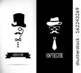 gentleman and hipster | Shutterstock .eps vector #162243269