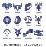 zodiac signs  simple flat... | Shutterstock .eps vector #1622442694