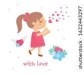 valentine's day romantic card.... | Shutterstock .eps vector #1622443297