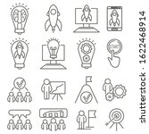 linear startup icons for web... | Shutterstock .eps vector #1622468914