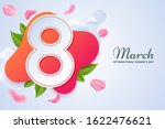 8 march greeting card design.... | Shutterstock .eps vector #1622476621