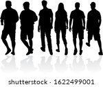 group of people. crowd of... | Shutterstock . vector #1622499001