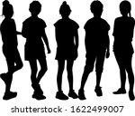children black silhouettes.... | Shutterstock . vector #1622499007