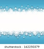 blue christmas background | Shutterstock .eps vector #162250379