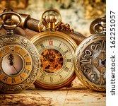 vintage antique pocket watch. | Shutterstock . vector #162251057