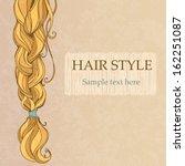 braided brunette hair vintage... | Shutterstock .eps vector #162251087