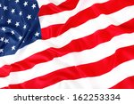 close up of american flag | Shutterstock . vector #162253334