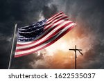 United States Flag With...