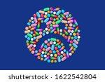 unhappy depressed sad face... | Shutterstock . vector #1622542804