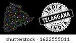bright mesh telangana state map ... | Shutterstock .eps vector #1622555011