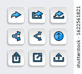 set of share icon with trendy...