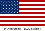 american flag design. vector... | Shutterstock .eps vector #1622585857