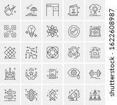 25 universal icons vector... | Shutterstock .eps vector #1622608987