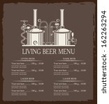 beer brewery with a price | Shutterstock .eps vector #162263294