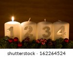 advent candles in a row on a...   Shutterstock . vector #162264524