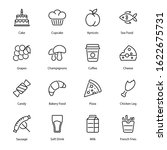 food and drinks outline icons   ...