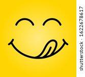 yummy smile vector cartoon line ... | Shutterstock .eps vector #1622678617