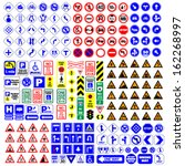 traffic signs group vector... | Shutterstock .eps vector #162268997