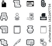 document vector icon set such... | Shutterstock .eps vector #1622697754