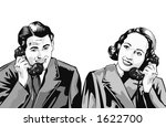 man and woman on phone | Shutterstock . vector #1622700