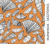 Summer Pattern With Seashells....