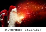 image of santa claus in red... | Shutterstock . vector #162271817