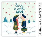 winter date with lettering love ... | Shutterstock .eps vector #1622727181