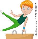 Little Boy Gymnast Doing A...