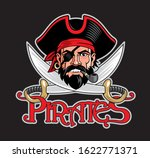 pirate captain head and two... | Shutterstock .eps vector #1622771371