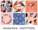 collection of greeting card or... | Shutterstock .eps vector #1622773201