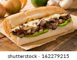 steak and cheese sub | Shutterstock . vector #162279215