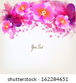 abstract floral artistic... | Shutterstock .eps vector #162284651