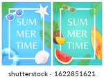 summer time party theme banner  ... | Shutterstock . vector #1622851621