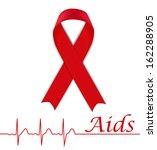 aids awareness red ribbon | Shutterstock .eps vector #162288905