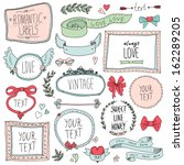 vintage label set  hand drawn... | Shutterstock .eps vector #162289205