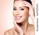 portrait of young beautiful... | Shutterstock . vector #162295451
