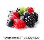 mix berry in closeup | Shutterstock . vector #162297821