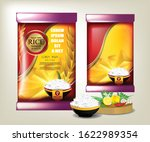 rice food or thai food  package ... | Shutterstock .eps vector #1622989354