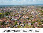 ubud city aerial view to street ... | Shutterstock . vector #1622990467