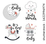 baby shower posters  welcome... | Shutterstock .eps vector #1622996974