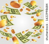 banner with money   bank notes... | Shutterstock .eps vector #1622998684