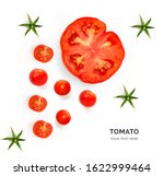Creative Layout Made Of Tomato. ...