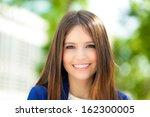 beautiful businesswoman...   Shutterstock . vector #162300005