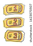 three tickets vector... | Shutterstock .eps vector #1623070507