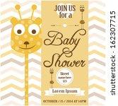 baby shower invitation | Shutterstock .eps vector #162307715