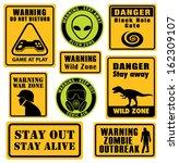 Set Of Unusual Warning Signs....