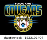 Cougars Baseball Team Design...