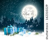 christmas night   background... | Shutterstock .eps vector #162310229